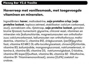 ingredienten jimmy joy proteine reep